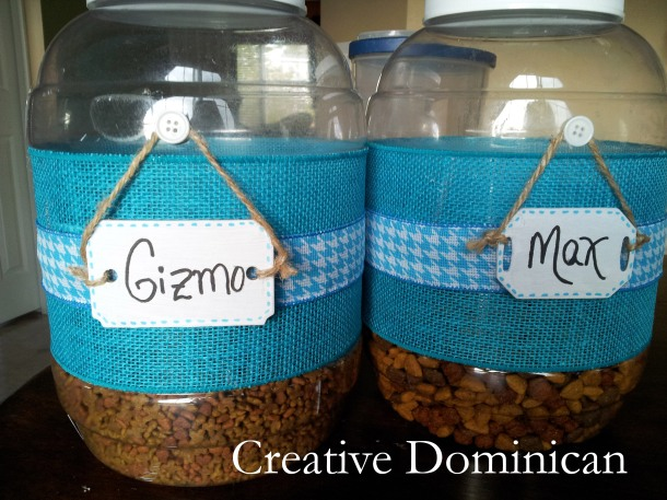 DIY Pet food containers