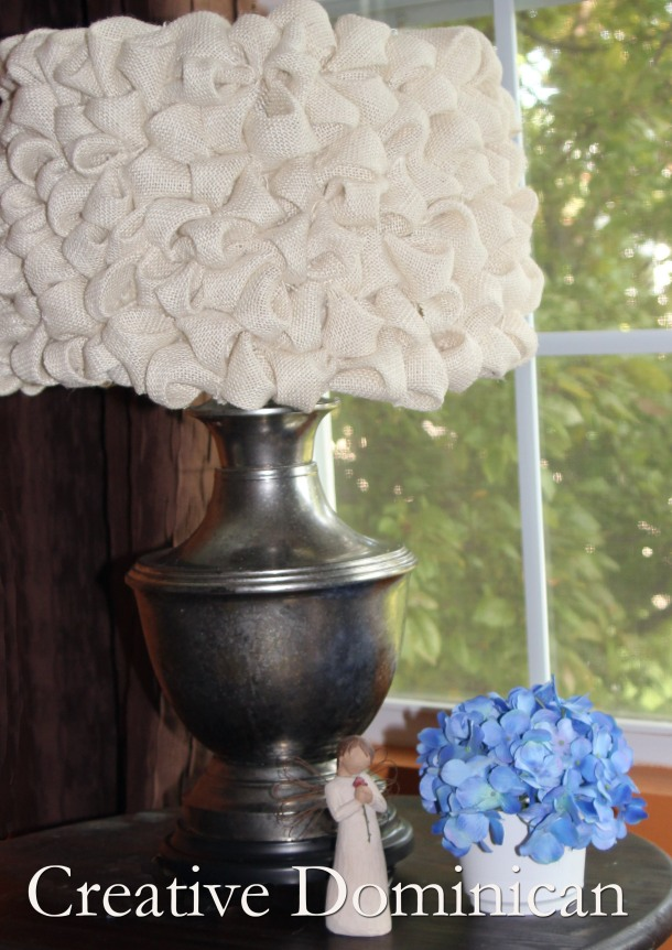 DIY Mercury Lamp With Burlap Shade