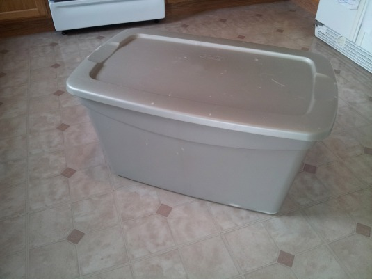 Storage bin to toy box makeover.