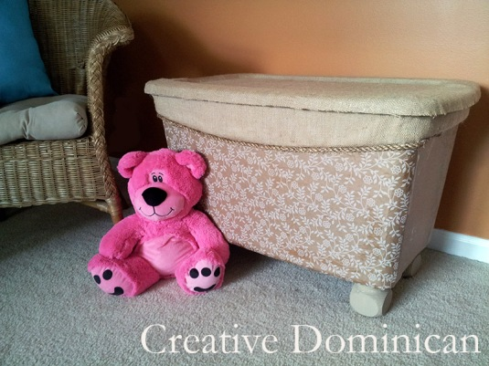 Storage bin to toy box makeover