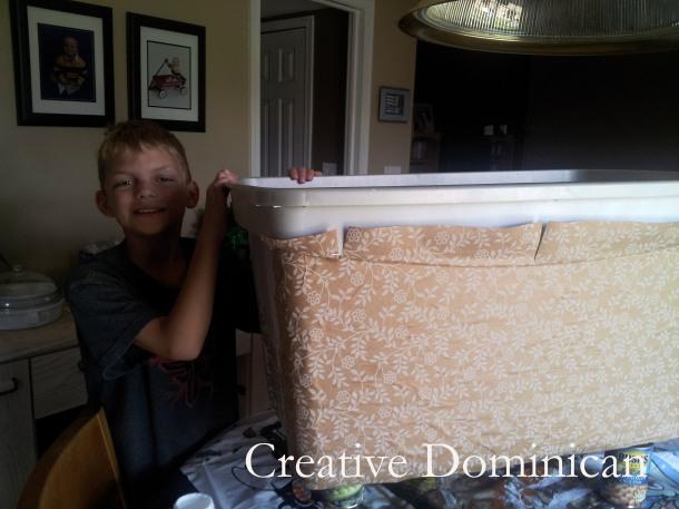 Storage bin to toy box makeover