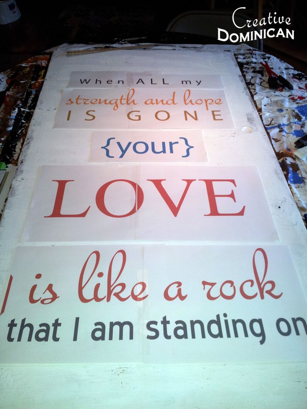 Large Hand Painted Lyric Sign